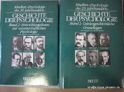 Balmer, Heinrich  Geschichte der Psychologie. 2 Bände