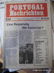 o. Autor  Portugal-Nachrichten Nr. 15/16 (Wochenzeitung für ein sozialistisches Portugal; Montag 15.12.1975)