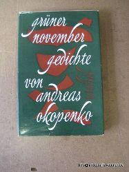 Okopenko, Andreas:  Grüner November (Gedichte)  1. Ausgabe