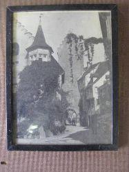 """Anonym  Private s/w Fotografie Meersburg am Bodensee Urlaub Herbst 1942 (mit Stadtor und links """"Gasthof Zum Bären"""")"""