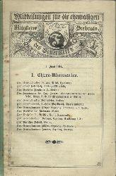 anonym  Mitteilungen für die ehemaligen Mitglieder des Feuerwerks Personals. 1. Juni 1914