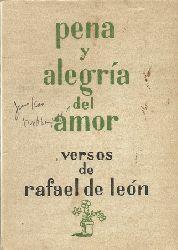 de Leon, Rafael  Pena y Alegria del Amor (Versos)