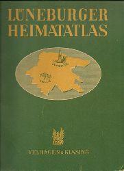 Lüneburg - Schüttau, Bruno; und Paul Hahn:  Lüneburger Heimatatlas 1. Ausgabe