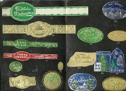 Scholz, Josef B.  Führende Spezialfabrik in Deutschland für geprägte Etiketten und Siegelmarken (Mustermappe mit 55 Siegelmarken zum Thema Weihnachten)
