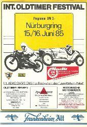 ADAC  Internationales Oldtimer Festival Nürburgring 15./16. Juni 1985 (Offizielles Programm)