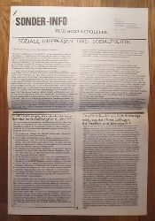 Studentenbewegung - Asta Sozialreferat Werner Freund und Brigitte Scheuermann:  SONDER-INFO zur Sozialpolitik (Soziale Interessen und Sozialpolitik)