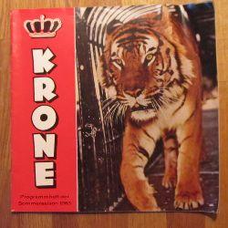 Circus Krone  Programmheft der Sommersaison 1963