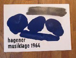 Schumacher, Emil  Hagener Musiktage 1964 (6seitiger Faltprospekt mit Terminen und Abb.)