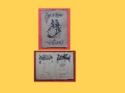 Hoffmann, Anton (Illustrator)  Weinkarte des Auerbachs Keller Leipzig