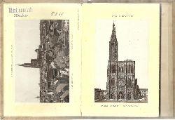Straßburg - ohne Angaben:  Album von Straßburg (Leporello mit 22 Ansichten)