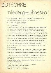 """diverse Hg.  Flugblatt """"Dutschke niedergeschossen"""""""