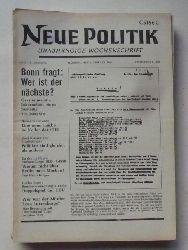 Schenke, Wolf (Hg.)  NEUE POLITIK 14. Jg. Nr. 5 (Unabhängige Wochenschrift)