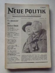 Schenke, Wolf (Hg.)  NEUE POLITIK 14. Jg. Nr. 4 (Unabhängige Wochenschrift)