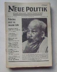 Schenke, Wolf (Hg.)  NEUE POLITIK 13. Jg. Nr. 51/52 (Unabhängige Wochenschrift)
