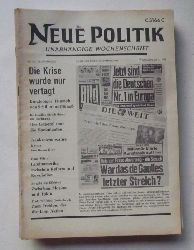 Schenke, Wolf (Hg.)  NEUE POLITIK 13. Jg. Nr. 48 (Unabhängige Wochenschrift)