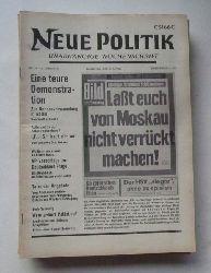 Schenke, Wolf (Hg.)  NEUE POLITIK 14. Jg. Nr. 10 (Unabhängige Wochenschrift)