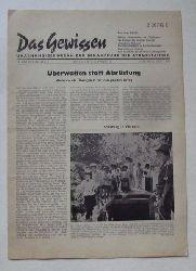 Manstein, B. (Schriftleiter)  Das Gewissen 10. Jg. Nr. 6 Juni 1965