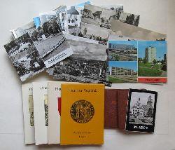 Plauen - diverse:  Konvolut mit 36 Ansichtskarten in s/w und Farbe, 4 Mappen mit je 14 Ansichten und 3 Miniformate mit Ansichten von Plauen