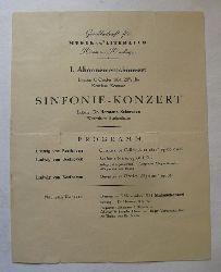 Scherchen, Hermann Dr.  Konzertprogramm: I. Abonnementskonzert (Dienstag 6. Oktober 1931 Konzilsaal Konstanz)
