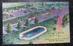 """Ansichtskarte """"Hal Orr`s Motel; Highway 301 Rocky Mount. North Carolina"""""""