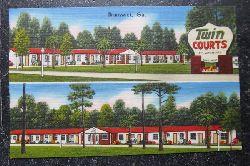 "Ansichtskarte ""Twin Courts and Restaurant, Brunswick Ga."""