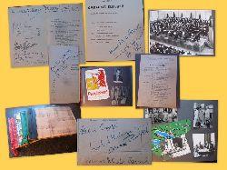 Lehrergesangverein (LGV) Karlsruhe und Badischer Sängerbund  4 private Alben, die die Zeit des LGV von 1951-1975 dokumentieren (Sehr liebevoll gestaltete Alben, die einen Teil der Geschichte des LGV mit zahlreichen SIGNIERTEN Programmen renommierter Künstler dokumentieren)