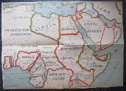 Karte von Nordafrika