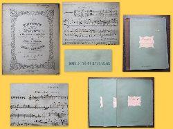 Schumann, Clara und Robert Schumann  QUINTETT / für / Pianoforte / 2 Violinen (Violina 1+2), Viola und Violoncello / Clara Schumann / GEB. WIECK / zugeeignet / von / ROBERT SCHUMANN. / Op.44. (Pr. 3 Thlr.)