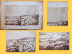 """Klotz & Hentschel, (Photograph - Hof)  Original-Fotografie: """"Schieferbrüche auf der Schmiedebacher Haide, seltene Ansicht des Werksgeländes"""" (aus einem Fund auf Schloß Amalienberg (Kavaliersgebäude), wo Oertel 1903 starb)"""