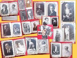 Hof- und Landestheater  Privat angelegtes Foto-Postkarten-Album für den Zeitraum v. ca. 1919-1932 mit sehr vielen (67 Stück) SIGNIERTEN und Widmungskarten überwiegend Karlsruher Sänger/Innen und SchauspielerInnen
