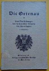 Historischer Verein Mittelbaden (Hg.)  Die Ortenau 24. Heft 1937 (Veröffentlichungen des Historischen Vereins für Mittelbaden)