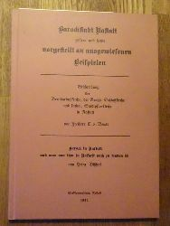 Beust, Freiherr C. v.  Barockstadt Rastatt gestern und heute vorgestellt an ausgewiesenen Beispielen (Beschreibung der Bernharduskirche, der Großh. Schloßkirche und kathol. Stadtpfarrkirche in Rastatt von Freiherr C. v. Beust / Barock in Rastatt und was von ihm in Rastatt noch zu finden ist von Heinz Bischof)