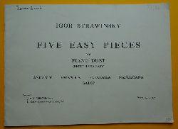 Strawinsky, Igor  Five Easy Pieces for Piano Duet (Right Hand Easy) (Andante, Espanola, Balalaika, Napolitana, Galop)
