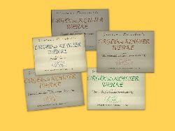 Frescobaldi, Girolamo  Orgel- und Klavier Werke Band I - V (Gesamtausgabe nach dem Urtext hg. v. Pierre Pidoux)