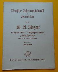 Mozart, Wolfgang Amadeus  12 deutsche Tänze / 7 Salzburger Menuette / 6 ländlerische Tänze (für 2 Violinen und Baß (Violoncello); Hg. Adolf Hoffmann)