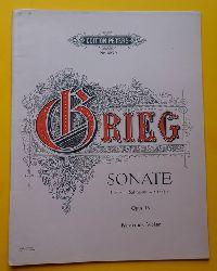 Grieg, Edvard  Sonate Op. 13, G dur - sol majeur - G major (Für Pianoforte und Violine)