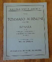 Albinoni, Tommaso  Sonata a Tre, 2 Violini e Violoncello, col Basso per L`Organo Op. 1 Nr. 3 (Hg. Walter Upmeyer)