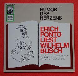 """Busch, Wilhelm - Ponto, Erich:  Erich Ponto liest Wilhelm Busch (LP) (aus """"Balduin Bählamm, der verhinderte Dichter"""", """"Der Nöckergreis"""", """"Kritik des Herzens"""" und """"Zu guter letzt""""))"""