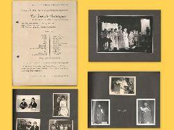 """Wondratscheck, Wolf  Privates Fotoalbum v. einer Aufführung 1957 am Goethe-Gymnasium in Karlsruhe (Wolf Wondratscheck im Alter von 14 Jahren in der Rolle des """"Igel"""" in der Aufführung """"Der Igel als Bräutigam"""" (Oper mit Texten und Musik von Cesar Bresgen und Ludwig Andersen)"""