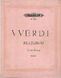 Verdi, Giuseppe:  Requiem (Totenmesse) (für vier Solostimmen (Sopran, Mezzosopran, Tenor und Bass; Chor und Orchester, Klavierauszug v. Kurt Soldan)