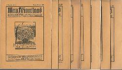 Busse (Hg.), H.E.:  Mein Heimatland, Heft 1 - 8 / 1929 (Badische Blätter für Volkskunde, ländliche Wohlfahrtspflege, Familienforschung, Heimatschutz und Denkmalpflege)  8 Hefte (kpl. Jg.)