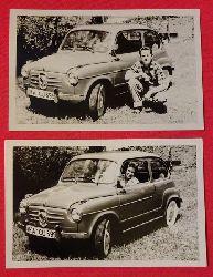 .  2 s/w Fotografien Fiat 600