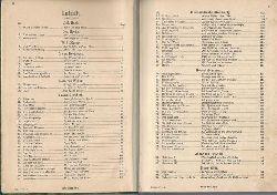 Dörffel, Alfred  Liederkranz (Inhalt siehe Abbildung) Sammlung der berühmtesten Lieder für eine Singstimme mit Klavierbegleitung - Mittlere Stimme