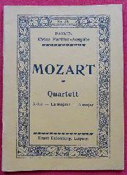 Mozart, Wolfgang Amadeus  Quartett No. 5 A dur (Quartett für 2 Violinen, Viola und Violoncell)