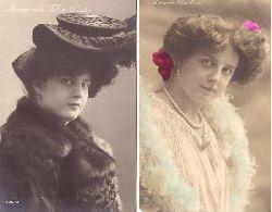 Fehim-Pascha, Margaretha  2 Ansichtskarten mit Abbildung der Schauspielerin
