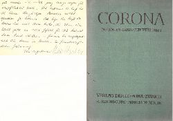 Bodmer, Martin  CORONA Neuntes (9.) Jahr, Erstes (5.) Heft (Zweimonatsschrift)