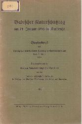 Bad. Landesmuseum f. Naturkunde (Hg.)  Badischer Naturschutztag am 14. Januar 1936 in Karlsruhe