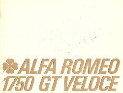 "ALFA ROMEO  Alfa Romeo 1750 GT Veloce (Verkaufsbroschüre mit Beilage ""Preisliste Nr. 21 v. 12. Januar 1969, diese auch für andere Modelle)"