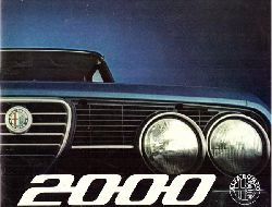 ALFA ROMEO  Alfa Romeo 2000. Ein meisterhafter europäischer Wagen (Verkaufsbroschüre)