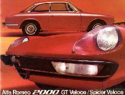 ALFA ROMEO  Alfa Romeo 2000 GT Veloce / Spider Veloce (Verkaufsbroschüre)